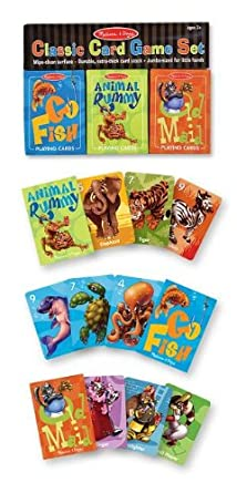 Melissa & Doug Deluxe Animal Card Games