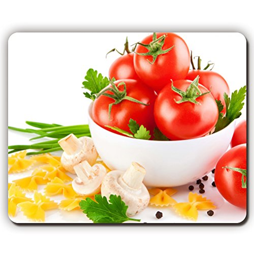 mouse pad,tomatoes salad mushrooms pasta white background allspice,Game Office MousePad size:260x210x3mm(10.2x 8.2inch) (Rabbit Pasta compare prices)