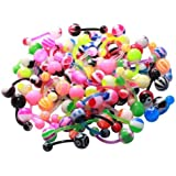 BodyJ4You¨ Belly Ring Assorted Lot of 100 Banana Piercing 14G Belly Button Rings Piercing Jewelry
