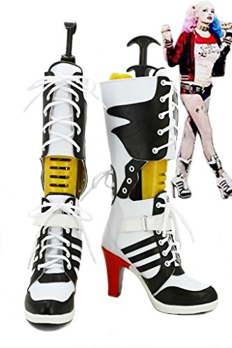 f7266ed1caf5 Batman Suicide Squad Harley Quinn Cosplay Shoes Boots