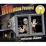 "Menacing Mummy Translucent Window Decorations ""Double Window Design"