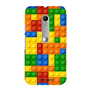 HomeSoGood Colorful Blocks Game Multicolor 3D Mobile Case For Moto G 3rd Gen (Back Cover)
