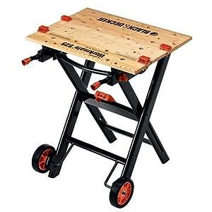 Black Decker Wm525 Workmate 525 450 Pound Capacity Portable Work Bench With Wheels