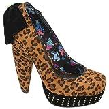 Babycham - Alyssa Tan Leopard Heels, Brown