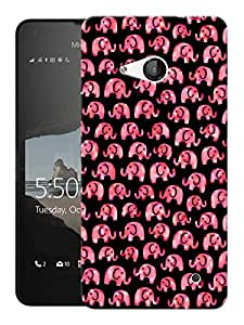 """Humor Gang Cute Elephants Printed Designer Mobile Back Cover For """"Nokia Lumia 550"""" (3D, Matte, Premium Quality Snap On Case)"""