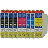 N.T.T.® 10 x Stück XL Druckerpatronen / Tintenpatronen kompatibel zu T1631XL-T1634XL Epson WorkForce WF-2010W ; WF-2510WF ; WF-2520NF ; WF-2530WF ; WF-2540WF