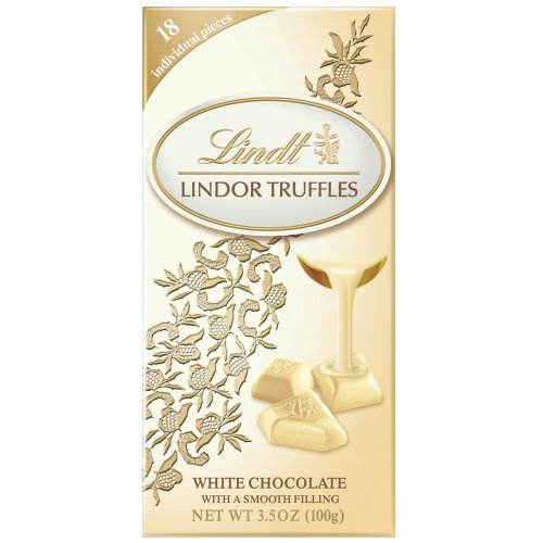 Lindt Lindor White Chocolate Truffle Bar, 3.5-Ounce