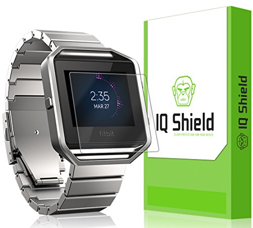 IQ Shield® LiQuidSkin [6-Pack] - Fitbit Blaze Screen Protector & Warranty Replacements - HD Ultra Clear Film - Protective Guard...