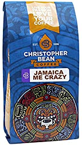 Christopher Bean Coffee Flavored Whole Bean Coffee, Jamaica Me Crazy, 12 Ounce