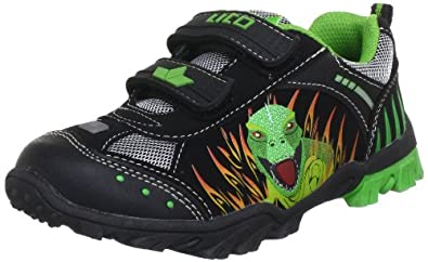 Lico Dino V 300073 Jungen Sneaker, Schwarz (schwarz/grün/rot), EU 25