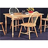 Natural Finish Solid Wood Rectangular Butcher Block Farm Dining Table. This is a brand new natural solid wood rectangular butcher block farm dining table. Item is constructed in quality solid wood and comes in a traditional design to match th...