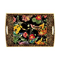 Michel Design Works Decoupage Wooden Tray Flora Exotica 20 by 13-3/4-Inch