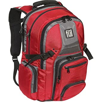 ful Unisex Adult Tennman Laptop Backpack (Red, 18.75 x 12