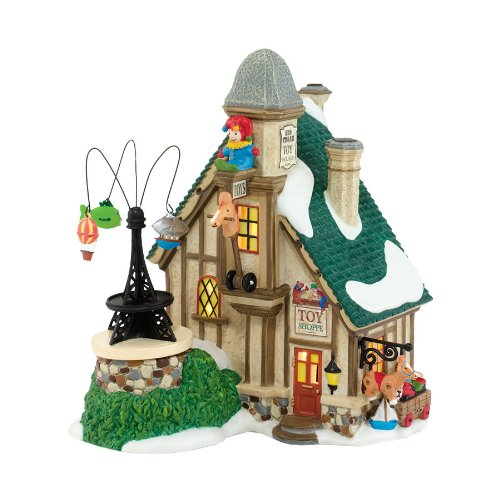 Department 56 Dickens Village Tegan's Toy Ornament Lit House, 7.4-Inch