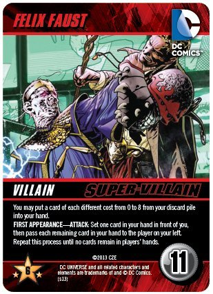 Felix Faust Super Villain DC Comics Deck Building Game Promo - 1