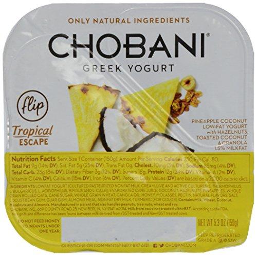 Chobani Flip, Low Fat Yogurt, Tropical Escape, 5.3 Oz