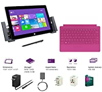 "Microsoft Surface Pro 2 Core i5-4200U 8G 512GB 10.6"" touch screen 1920x1080 Full HD Wacom Pen Windows 8 Pro Multi-position Kickstand(With Dock,Pink Type Cover,8Gb 512GB) by Microsoft"
