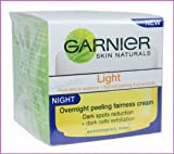 GARNIER SKIN NATURALS LIGHT OVERNIGHT WHITENING PEELING NIGHT CREAM 18 ml.