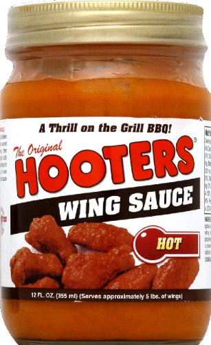 HOOTER'S Wing Sauce Hot 12.0 OZ(Pack of 3) (Hooters Hot Wing Sauce compare prices)