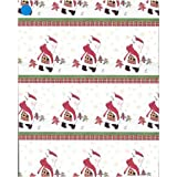 Creativ Company 5 m Wrapping Paper, Santa Golf