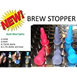 Brew Stopper 6 Pack Ideal Wine Stopper Beer Stopper Spirt Compare to Rabbit Wine Stopper champagne stopper
