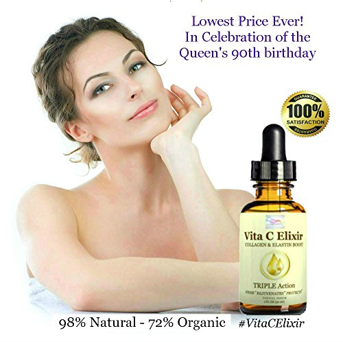 Best Organic Anti Aging Skin Care Product & Face Moisturizer - 20% Vitamin C + Hyaluronic Acid + Vit E, MSM, Essential Oils + Plant Extracts - Scientifically Proven - Vegan - No Paraben - Cruelty Free