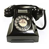 Best Price  GPO 332 - Vintage Black Bakelite Dial Telephone with Traditional Bell Ring