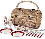 Picnic Time Barrel Picnic Basket with Service for 2, Moka by Picnic Time