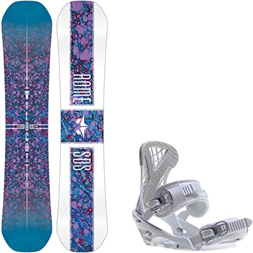 Rome Wildcat 146cm Womens Snowboard + Sapient Zeta Bindings - Fits US Wms Boots Sizes: 7,8,9,10 (Snowboard Package 146 compare prices)