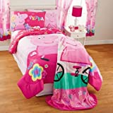 NEW! Peppa Pig Full Comforter, Sheets, Pillow Cases Bedding Set and Exclusive Linens N Beyond LED Simple Touch Key Chain