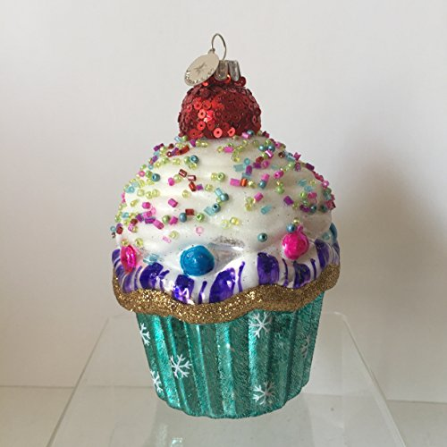 Celebrations by Radko Hand Crafted Glass Cupcake Ornament
