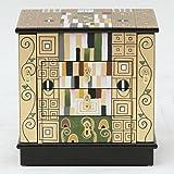不二貿易 ジュエリー ボックス 3段 引出 クリムトモザイク 輸入家具 アート 57332