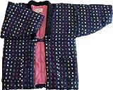 綿の郷 Sサイズ 干せば膨らむ暖か中わた綿入り久留米織婦人半纏 女性用 (S, 61)