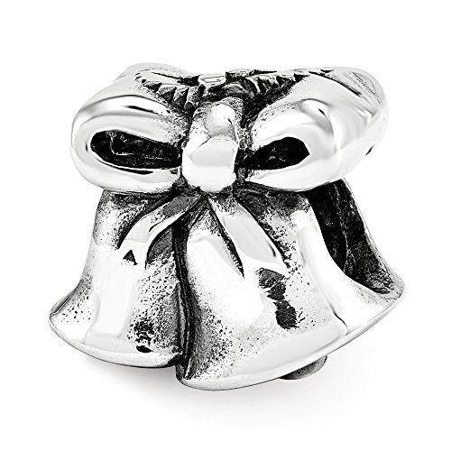 Christmas Bells Charm in Antiqued Sterling Silver