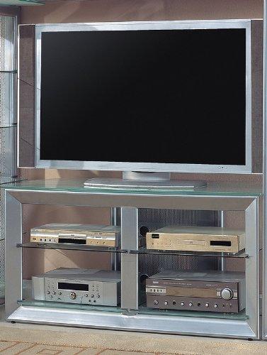 Cheap Silver Finish Metal LCD / Plasma Flat Panel TV Stand (VF_720121)