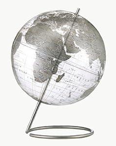 Replogle Globes Crystal Marquise Globe, Silver, 12-Inch Diameter