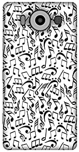 The Racoon Grip Music Jumble hard plastic printed back case / cover for Microsoft Lumia 950