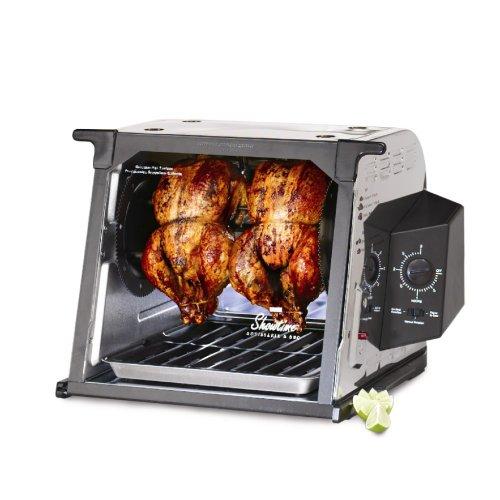 Ronco ST4023SSGEN Showtime Standard Rotisserie BBQ Oven, As Seen on TV, Stainless Steel, Set It & Forget It, 3HrTimer, Basket & Door Dishwasher Safe ST4023SSGEN
