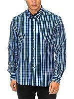 Mc Gregor Camisa Hombre (Azul / Cielo / Blanco)