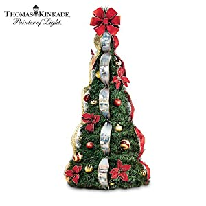 #!Cheap Thomas Kinkade Holiday Classics Fully Decorated 4-ft Pre-Lit Pull-Up Christmas Tree by The Bradford Exchange