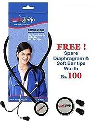 Healthgenie Dual Child Pediatric Stethoscope AL HG-206B (Black)...