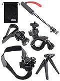 EEEKit 6-in-1 Travel Kit for Sony Action Cam HDR-AS15/20/30V/100V/HDR-AZ1 Mini/FDR-X1000V/W 4K