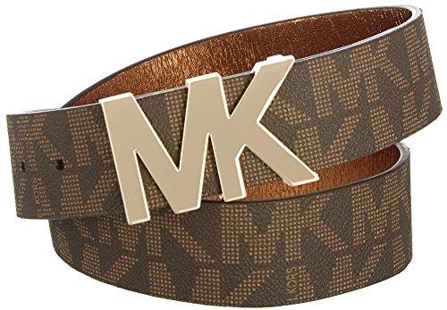 Michael Kors Signature Logo Wide Belt Brown Small
