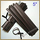 "100pcs 5""(12.7cm) Plastic Black Twist Ties - Flat"