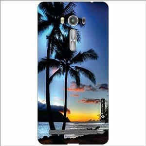 Asus ZenFone 2 Laser ZE550KL Back Cover - Silicon Coconut Tree Designer Cases