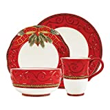 Fitz and Floyd Yuletide Holiday 4-Piece Place Setting