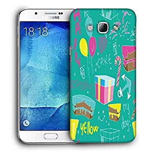 Snoogg Red Spots Pattern Printed Protective Phone Back Case Cover For Samsung Galaxy A8