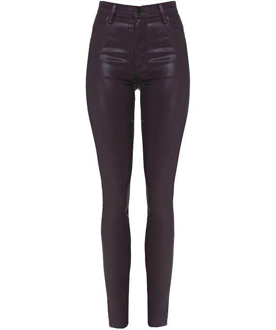 J Brand Maria High-Rise Coated Skinny Jeans Ruby