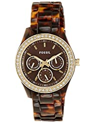 Fossil End-of-Season Stella Analog Brown Dial Women Watch - ES2795