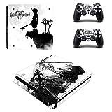 Playstation 4 Slim + 2 Controller Aufkleber Schutzfolien Set - Kingdom Hearts /PS4 S
